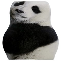 Panda Bear Sleeping Car Seat Velour Cushion  by Samandel