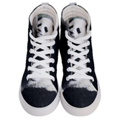 Panda Bear Sleeping Men s Hi Top Skate Sneakers