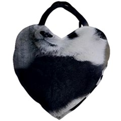 Panda Bear Sleeping Giant Heart Shaped Tote by Samandel