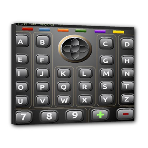 Scientific Solar Calculator Canvas 14  X 11  (stretched)