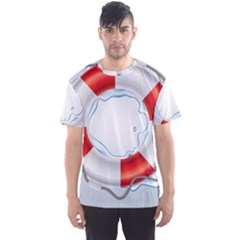 Spare Tire Icon Vector Men s Sports Mesh Tee