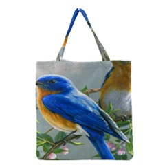 Loving Birds Grocery Tote Bag