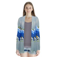 Loving Birds Drape Collar Cardigan