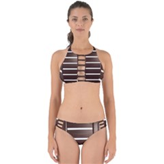 Minimalis Brown Door Perfectly Cut Out Bikini Set