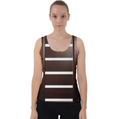 Minimalis Brown Door Velvet Tank Top