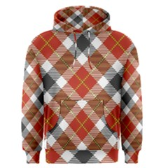 Smart Plaid Warm Colors Men s Pullover Hoodie by ImpressiveMoments