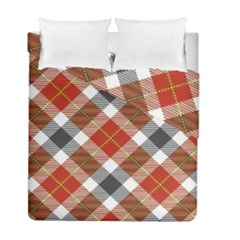 Smart Plaid Warm Colors Duvet Cover Double Side (full/ Double Size) by ImpressiveMoments