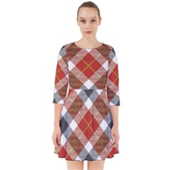 Smart Plaid Warm Colors Smock Dress by ImpressiveMoments