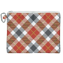 Smart Plaid Warm Colors Canvas Cosmetic Bag (xxl) by ImpressiveMoments