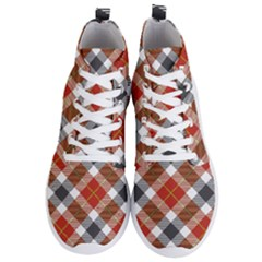 Smart Plaid Warm Colors Men s Lightweight High Top Sneakers