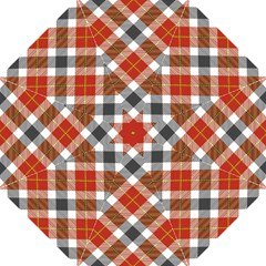 Smart Plaid Warm Colors Straight Umbrellas by ImpressiveMoments