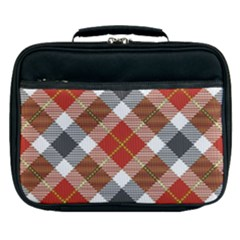 Smart Plaid Warm Colors Lunch Bag by ImpressiveMoments