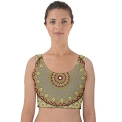 Mandala Art Ornament Pattern Velvet Crop Top