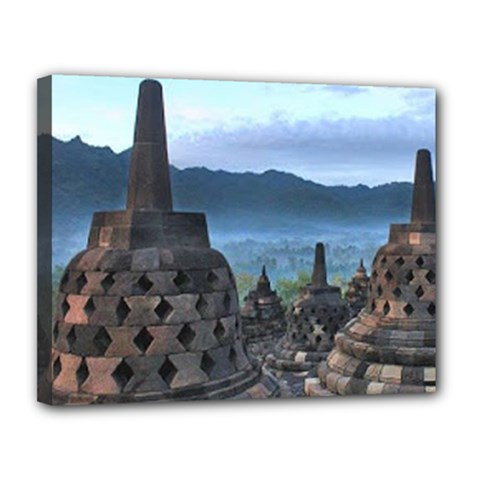Borobudur Temple  Morning Serenade Canvas 14  X 11  (stretched)