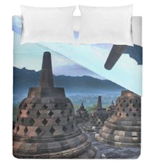 Borobudur Temple  Morning Serenade Duvet Cover Double Side (queen Size)