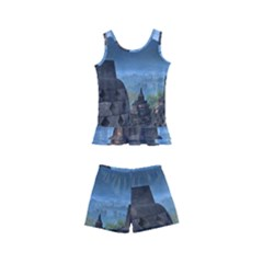 Borobudur Temple  Morning Serenade Kid s Boyleg Swimsuit