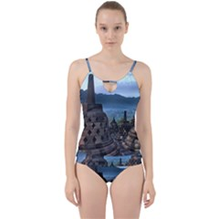 Borobudur Temple  Morning Serenade Cut Out Top Tankini Set