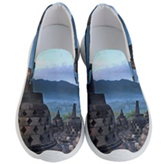 Borobudur Temple  Morning Serenade Men s Lightweight Slip Ons