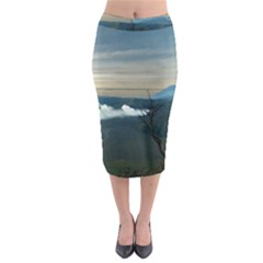 Bromo Caldera De Tenegger  Indonesia Midi Pencil Skirt
