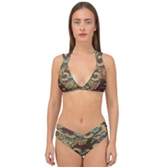 Colorful The Beautiful Of Art Indonesian Batik Pattern Double Strap Halter Bikini Set