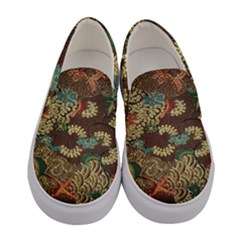 Colorful The Beautiful Of Art Indonesian Batik Pattern Women s Canvas Slip Ons