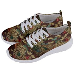 Colorful The Beautiful Of Art Indonesian Batik Pattern Men s Lightweight Sports Shoes by Samandel