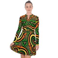 Celtic Celts Circle Color Colors Long Sleeve Panel Dress