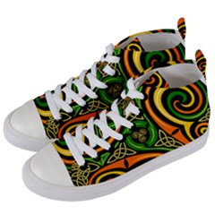 Celtic Celts Circle Color Colors Women s Mid Top Canvas Sneakers by Samandel