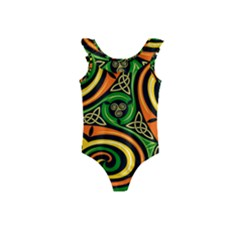 Celtic Celts Circle Color Colors Kids  Frill Swimsuit