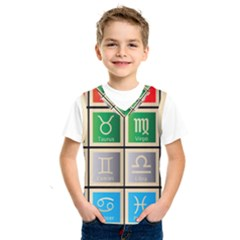 Set Of The Twelve Signs Of The Zodiac Astrology Birth Symbols Kids  Sportswear