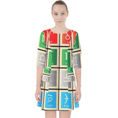 Set Of The Twelve Signs Of The Zodiac Astrology Birth Symbols Pocket Dress