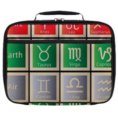 Set Of The Twelve Signs Of The Zodiac Astrology Birth Symbols Full Print Lunch Bag by Samandel