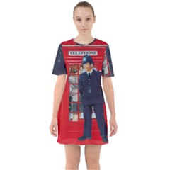 Red London Phone Boxes Sixties Short Sleeve Mini Dress