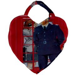 Red London Phone Boxes Giant Heart Shaped Tote