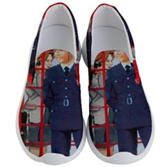 Red London Phone Boxes Men s Lightweight Slip Ons by Samandel