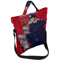 Red London Phone Boxes Fold Over Handle Tote Bag