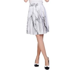 Marble Granite Pattern And Texture A Line Skirt by Samandel