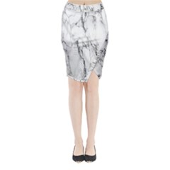 Marble Granite Pattern And Texture Midi Wrap Pencil Skirt