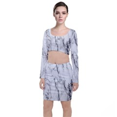 Marble Granite Pattern And Texture Top And Skirt Sets by Samandel