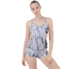 Marble Granite Pattern And Texture Boyleg Tankini Set