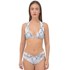 Marble Granite Pattern And Texture Double Strap Halter Bikini Set by Samandel