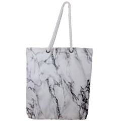 Marble Granite Pattern And Texture Full Print Rope Handle Tote (large)