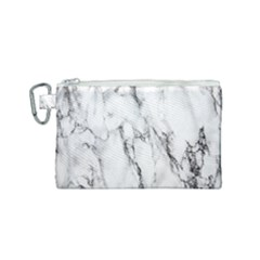 Marble Granite Pattern And Texture Canvas Cosmetic Bag (small)