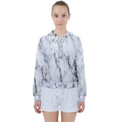 Marble Granite Pattern And Texture Women s Tie Up Sweat