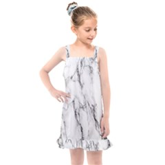 Marble Granite Pattern And Texture Kids  Overall Dress