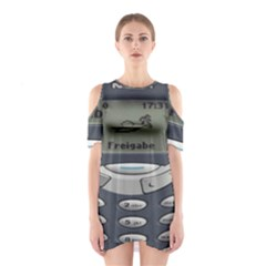 Nokia 3310 Classic Shoulder Cutout One Piece Dress by Samandel