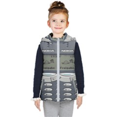 Nokia 3310 Classic Kid s Hooded Puffer Vest by Samandel