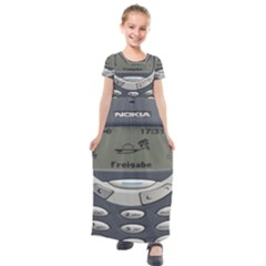 Nokia 3310 Classic Kids  Short Sleeve Maxi Dress by Samandel