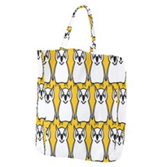 Yellow Owl Background Giant Grocery Tote
