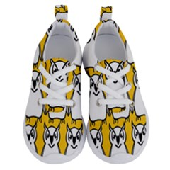 Yellow Owl Background Running Shoes